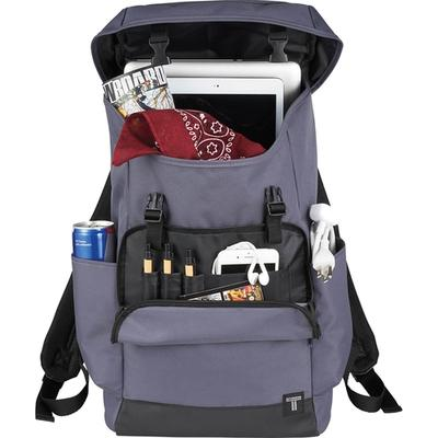 """Custom Embroidered Backpack - Elevate Tranzip 15"""" Commuter Computer Backpack"""