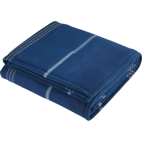 Blue Plaid Fleece Sherpa Blanket