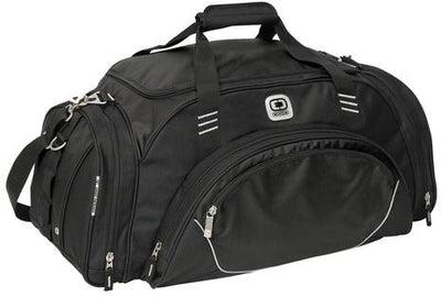 OGIO Transfer Duffel Bag-Black-Thread Logic