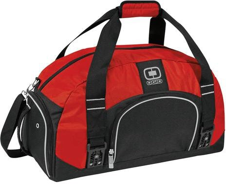 OGIO Big Dome Duffel Bag-Red-Thread Logic