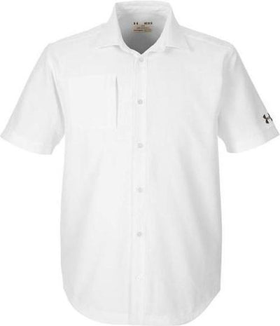 Under Armour Ultimate Short Sleeve Buttondown-S-White-Thread Logic