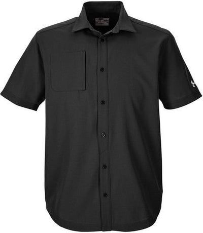 Under Armour Ultimate Short Sleeve Buttondown-S-Black-Thread Logic