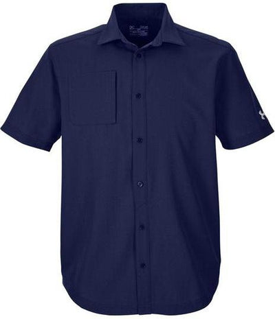 Under Armour Ultimate Short Sleeve Buttondown-S-Midnight Navy-Thread Logic