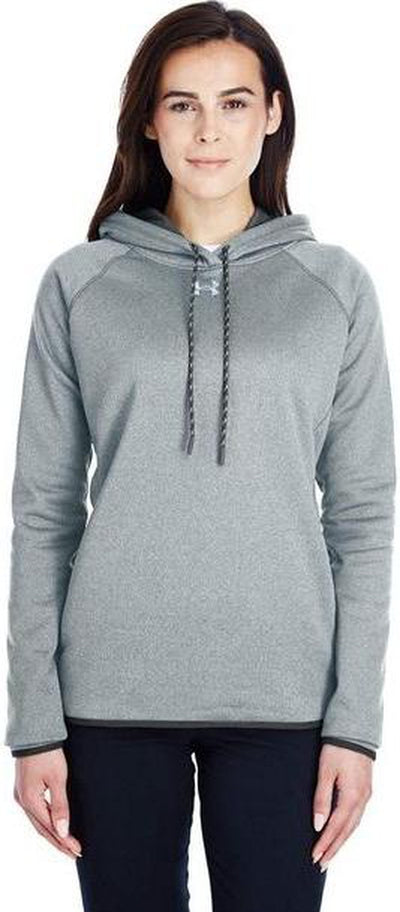 Model Under Armour Ladies Double Threat Armour Fleece Hoodie