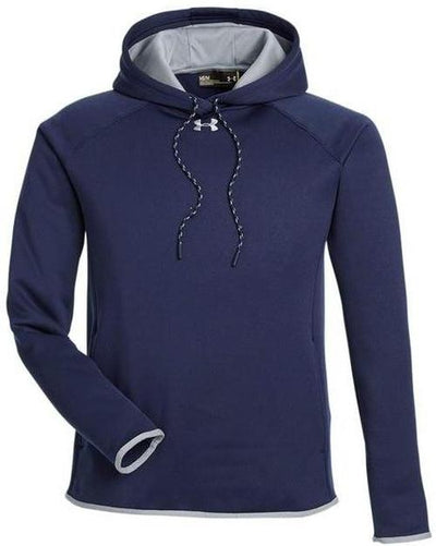 Under Armour Ladies Double Threat Armour Fleece Hoodie-XS-Midnight Navy/Steel-Thread Logic