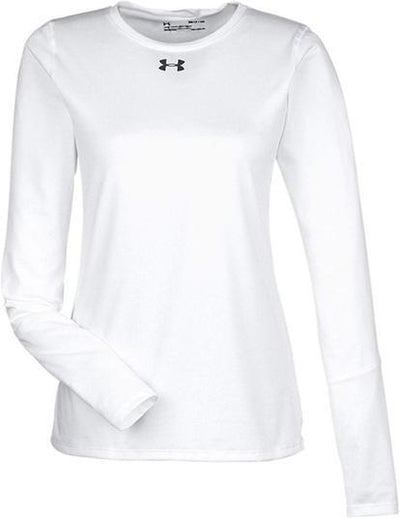 Under Armour Ladies Long-Sleeve Locker T-Shirt 2.0-XS-White/Graphite-Thread Logic