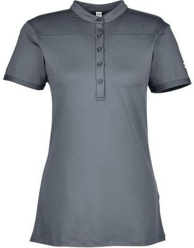 Under Armour Ladies Corporate Performance Polo 2.0-XS-Graphite/White-Thread Logic