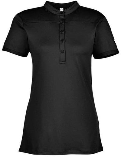 Under Armour Ladies Corporate Performance Polo 2.0-XS-Black/White-Thread Logic