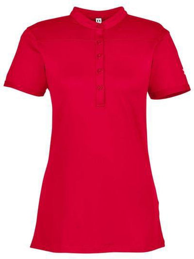 Under Armour Ladies Corporate Performance Polo 2.0-XS-Red/White-Thread Logic