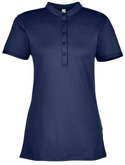 Under Armour Ladies Corporate Performance Polo 2.0-XS-Midnight Navy/White-Thread Logic