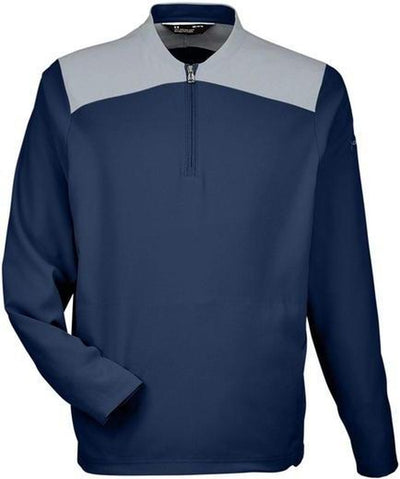 Under Armour Corporate Triumph Cage Quarter-Zip Pullover-S-Midnight Navy/Steel-Thread Logic