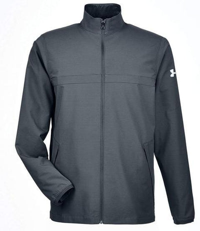 Under Armour Corporate Windstrike Jacket-S-Stealth Grey/White-Thread Logic