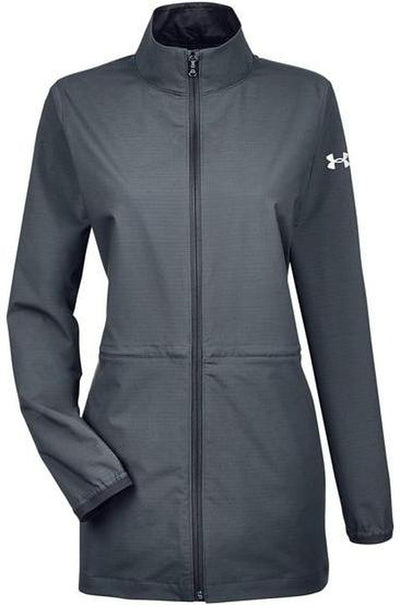Under Armour Ladies Corporate Windstrike Jacket-XS-Stealth Grey/White-Thread Logic