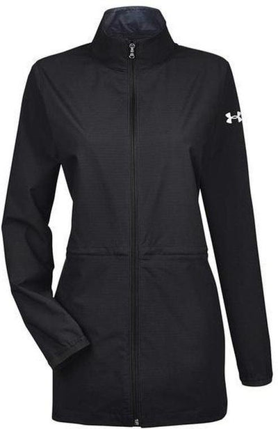 Under Armour Ladies Corporate Windstrike Jacket-XS-Black/White-Thread Logic