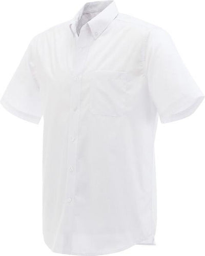 Elevate-COLTER Oxford Short Sleeve Dress Shirt-S-White-Thread Logic