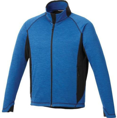 Elevate-LANGLEY Knit Jacket-S-Olympic Blue Heather/Black-Thread Logic