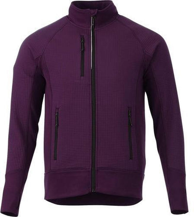 Elevate-PANORAMA Hybrid Knit Jacket-S-Dark Plum-Thread Logic