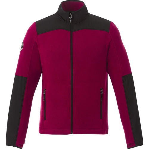 Roots73 Briggspoint Microfleece Jacket-S-Deep Red/Black-Thread Logic
