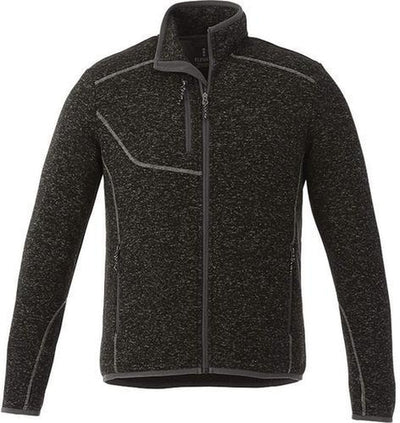 Elevate-TREMBLANT Knit Jacket-S-Black Smoke Heather-Thread Logic