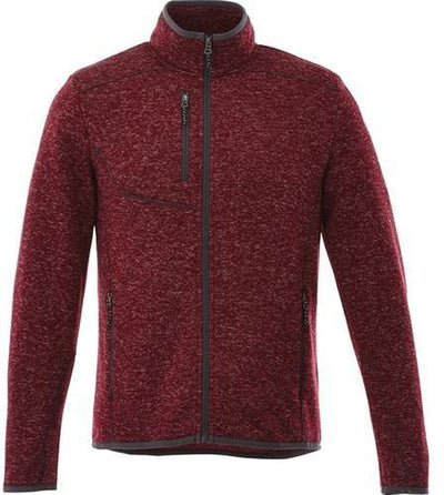 Elevate-TREMBLANT Knit Jacket-S-Maroon Heather-Thread Logic