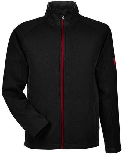 Spyder Constant Full-Zip Sweater Fleece-S-Black/Red-Thread Logic