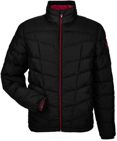 Spyder Pelmo Insulated Puffer Jacket-S-Black/Red-Thread Logic