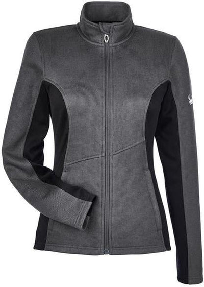 Spyder Ladies Constant Full-Zip Sweater Fleece-XS-Polar/ Black-Thread Logic