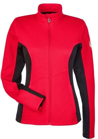 Spyder Ladies Constant Full-Zip Sweater Fleece-XS-Red/Black-Thread Logic