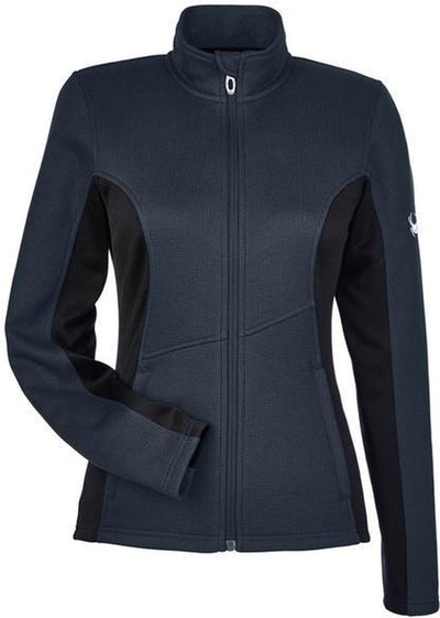 Spyder Ladies Constant Full-Zip Sweater Fleece-XS-Frontier/ Black-Thread Logic
