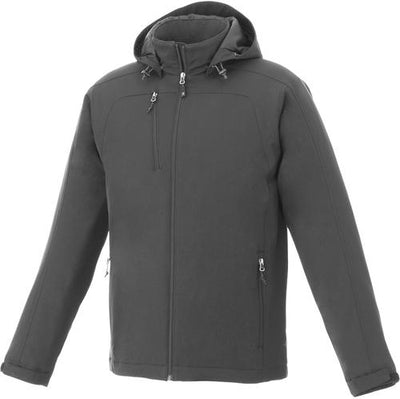 Elevate-BRYCE Insulated Softshell Jacket-S-Charcoal-Thread Logic