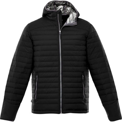 Elevate-SILVERTON Packable Insulated Jacket-S-Black-Thread Logic