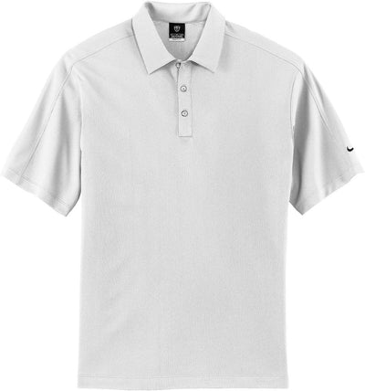 White NIKE Golf Tech Sport Dri-Fit Polo