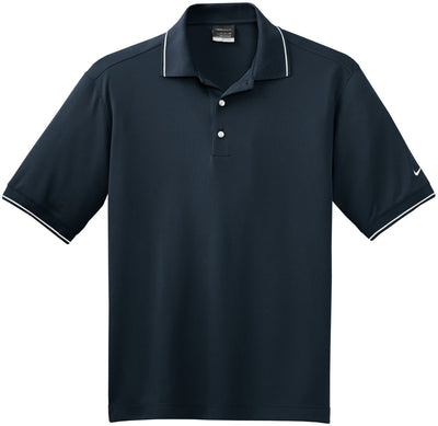 Dark Navy NIKE Golf Dri-Fit Classic Tipped Polo
