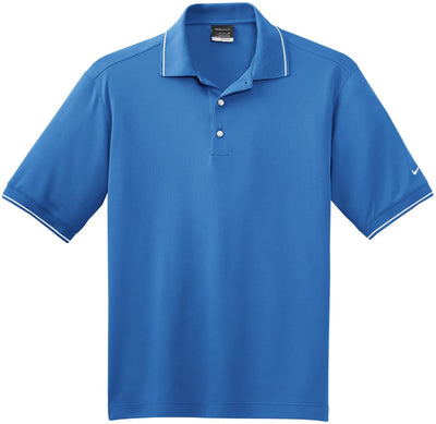 Pacific Blue NIKE Golf Dri-Fit Classic Tipped Polo