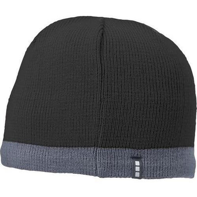 Elevate-COGENT KNIT BEANIE-Black/Steel Grey-Thread Logic