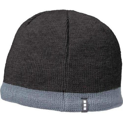 Elevate-COGENT KNIT BEANIE-Heather Dark Charcoal/Steel Grey-Thread Logic