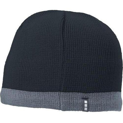 Elevate-COGENT KNIT BEANIE-Navy/Steel Grey-Thread Logic