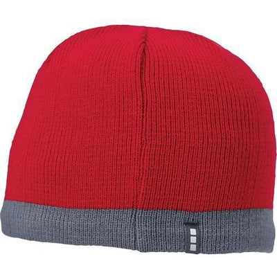 Elevate-COGENT KNIT BEANIE-Team Red/Steel Grey-Thread Logic