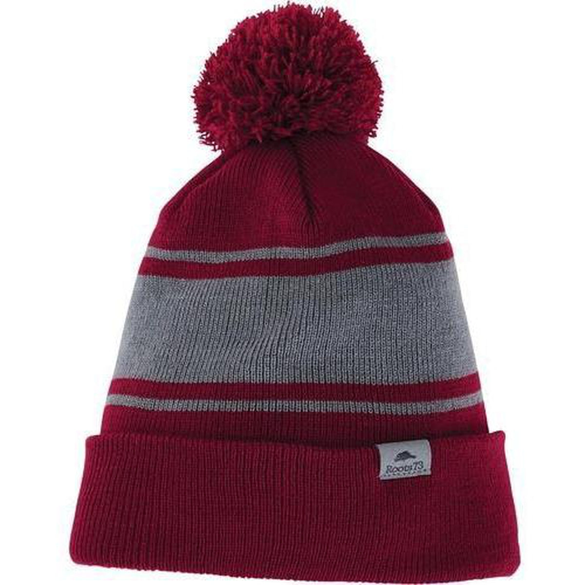 Roots73 Parktrail Knit Toque-Dark Red/Quarry-Thread Logic