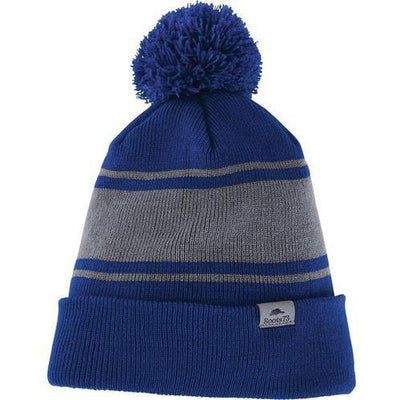 Roots73 Parktrail Knit Toque-Cobalt/Quarry-Thread Logic