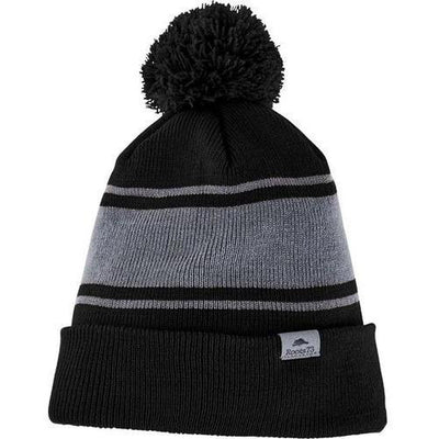 Roots73 Parktrail Knit Toque-Black/Quarry-Thread Logic