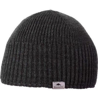 ROOTS73 FENELON BEANIE-Black Heather-Thread Logic