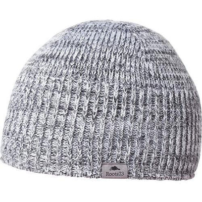 ROOTS73 FENELON BEANIE-White Heather-Thread Logic