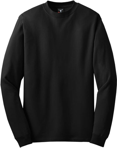 Hanes-Beefy Long Sleeve Cotton T-Shirt-S-Black-Thread Logic
