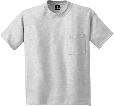 Hanes-Beefy T-Shirt with Pocket-S-Ash-Thread Logic