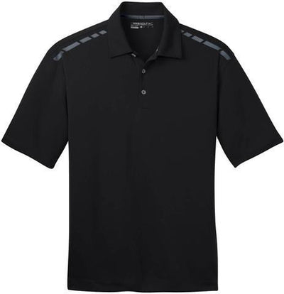 Black/Cool Grey NIKE Golf Dri-Fit Graphic Polo Shirt