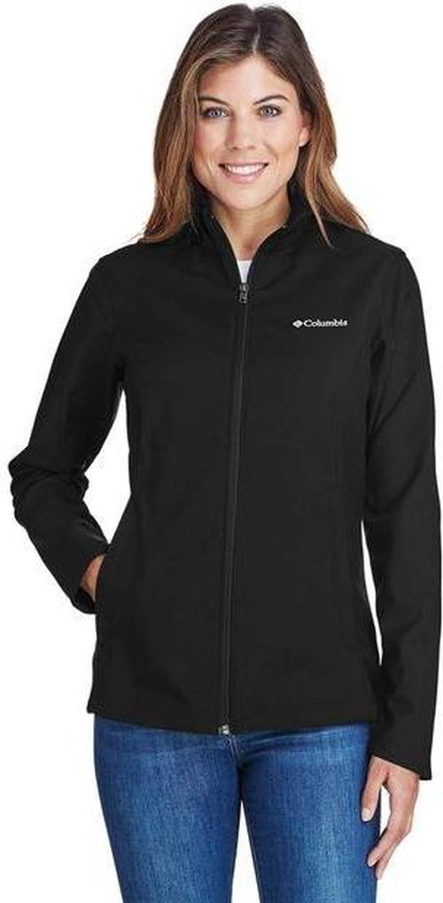 Columbia Ladies Kruser Ridge Soft Shell-XS-Black-Thread Logic logo-right