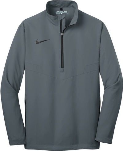 Dark Grey/Black NIKE Golf 1/2-Zip Wind Shirt