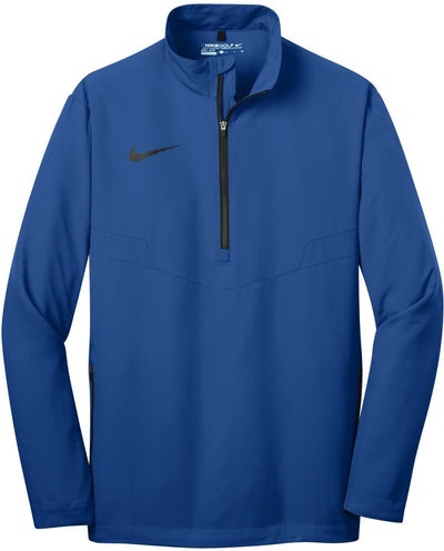 NIKE Golf 1/2-Zip Wind Shirt-S-Gym Blue/Black-Thread Logic
