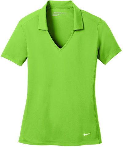 NIKE Golf Ladies Dri-Fit Vertical Mesh Polo-S-Action Green-Thread Logic